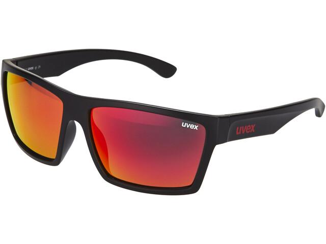 UVEX LGL 29 Occhiali, black mat/red